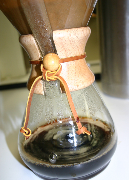 Chemex brew of Brandon's Anniversary Blend